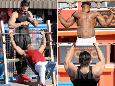 Britney Spears' Boyfriend Puts In Hot Body Workout (PHOTO GALLERY)