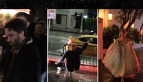 Stars Eat It in the Rain During Golden Globes Parties (VIDEO)