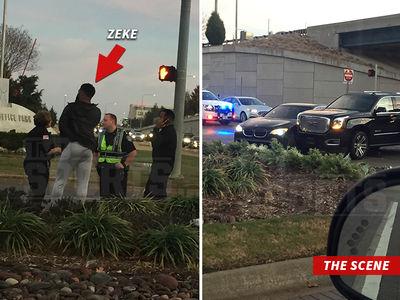 Ezekiel Elliott in 'Minor Car Crash,' Cops Respond (PHOTOS)