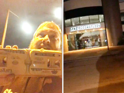 Pissed Chargers Fan Throws Eggs At Team Facility (VIDEO)