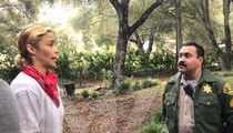 Video Shows Robin Thicke Shut Down By Cops in Paula Patton Custody War