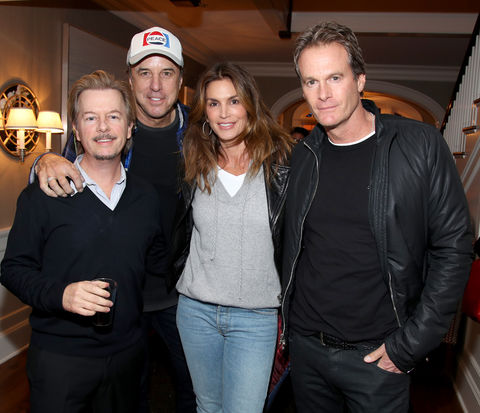 David Spade, Kevin Nealon, Cindy Crawford, and Rande Gerber