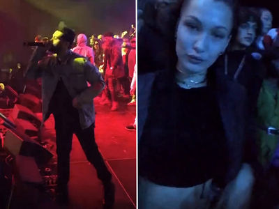 Exes The Weeknd & Bella Hadid Hit MSG at Same Time (VIDEO)