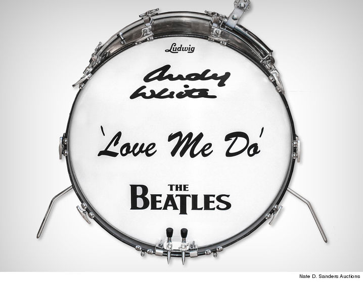 The Beatles Fans Could Own A Very Cool Piece Of Iconic Bands History Drum Kit Used For Recording Their First American Single