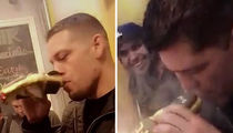 UFC's Diaz Bros Smoke $2,000 Gold Joint (VIDEO + PHOTOS)