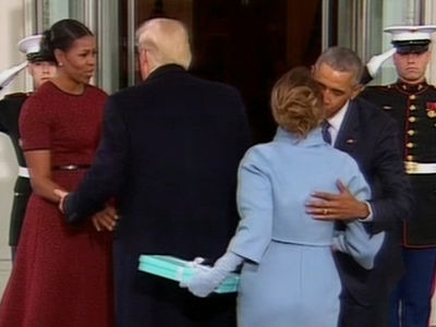 Donald, Melania, Barack and Michelle's Coffee Convo (VIDEO)