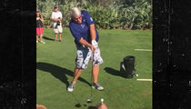 John Daly Hits a Golf Ball Out of Someone's Mouth ... Again (CRAZY VIDEO)
