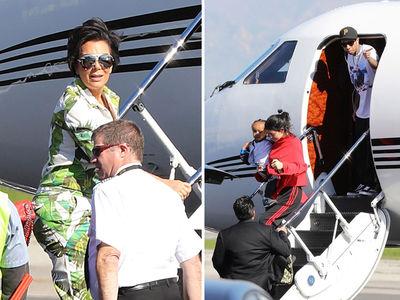The Kardashians Take a Ride on Dan Bilzerian's Dirty Bird (PHOTOS)