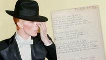 Get David Bowie's 'Genie' Handwriting for $50k (PHOTO GALLERY)