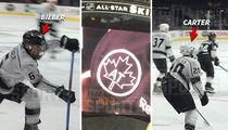 Justin Bieber Shoots, Scores At Celeb Hockey Game