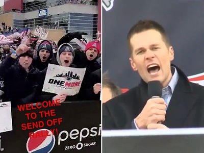 Tom Brady Gives Super Bowl Pump Up Speech ... At Massive Pep Rally (VIDEOS)