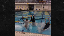 Michigan's Jim Harbaugh FULLY-CLOTHED POOL JUMP ... After Scoring Top WR Recruit (VIDEO)