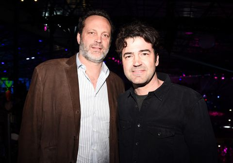 Actors Vince Vaughnand Ron Livingston attend the 2017 DIRECTV NOW Super Saturday Night