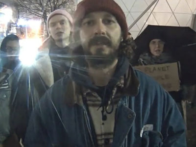Shia LaBeouf's 'He Will Not Divide Us' Protest Shut Down Due to Violence