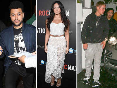 Bieber, The Weeknd Party in LA LA Land for Grammy Weekend (PHOTO GALLERY)