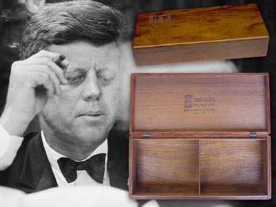 Smoking Deal on JFK Cigar Box (PHOTO GALLERY)