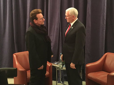 Bono Thanks Mike Pence For AIDS Relief Support (PHOTO)