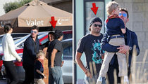 Robin Thicke At Nobu with Son, Water-Guzzling Court Monitor (PHOTO)