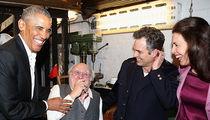 Barack and Malia Obama Give Their Regards to Broadway (PHOTOS)