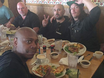 Norman Reedus and Dave Chappelle's Cuban Lunch in Georgia (PHOTO GALLERY)