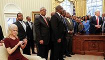 Kellyanne Conway's Couch Kneel is No Biggie, Says Oval Office Designer