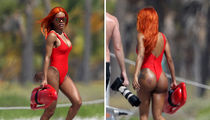 Teyana Taylor Goes Red on Red to Lifeguard (PHOTOS)
