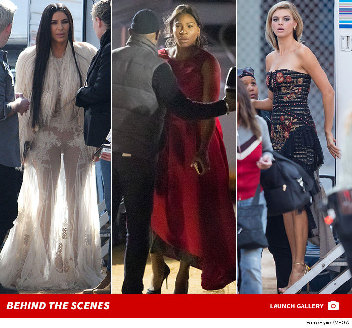 Kim Kardashian Shows LOTS Of Skin In Lace Getup For 'Ocean
