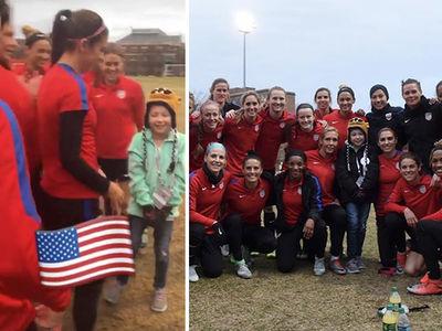 U.S. Women's Soccer Team Grants Make-A-Wish ... 9-Year-Old Leads Team Cheer! (VIDEO + PHOTO)
