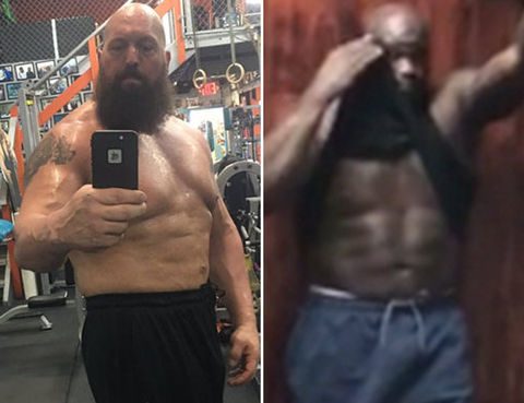 Big Show (45) vs. Shaq (45) --  BIGGEST abdominal showdown