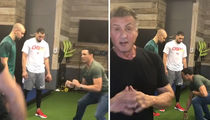Tony Gonzalez Training K.C. Chiefs TE Prodigy ... With Sly Stallone! (VIDEO)