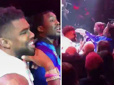 Ezekiel Elliott Parties with Meek Mill ... Rapper's Hand Bandaged (VIDEO)