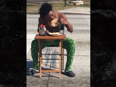 Man Busted For Eating Pancakes IN THE MIDDLE OF TRAFFIC!!! (PHOTO + VIDEO)