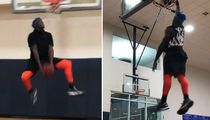 Josh Gordon Putting On Dunk Show (VIDEO)