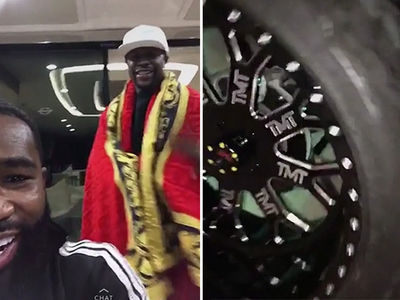 Floyd Mayweather Rocks Versace Cape In Miami