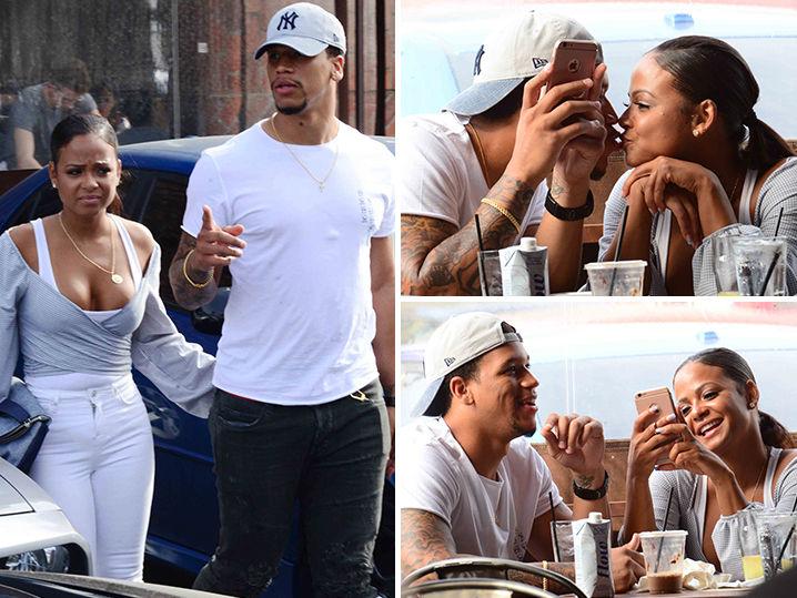 Christina Milian Cozies Up to New NFL Player Boyfriend ...