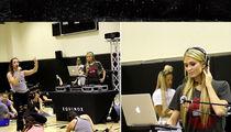 Paris Hilton DJs for a Yoga Session at Equinox (VIDEO)
