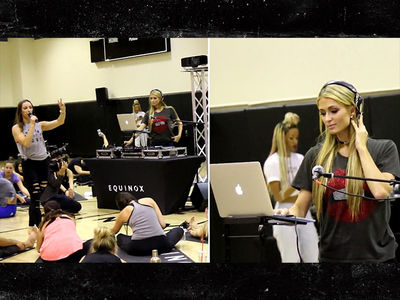 Paris Hilton DJs for a Yoga Session at Equinox (VIDEO)
