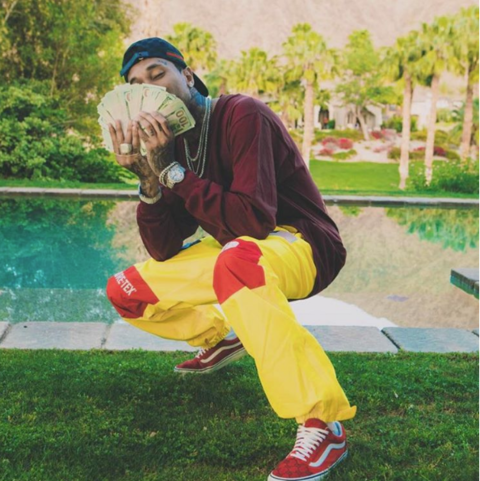Tyga showed the haters this Easter holiday who's got the money.