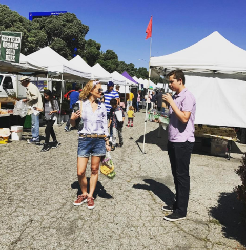 Candace Cameron spent her morning at the Farmers Market