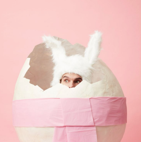 Flula hid in an egg.