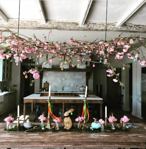 Madonna showed off her beautiful kitchen on Easter morning.