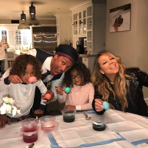 Mariah and Nick Cannon co-parenting for the Easter Holiday.