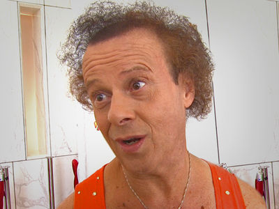 Richard Simmons Goes Out in Public in Disguise with Hat and Cane