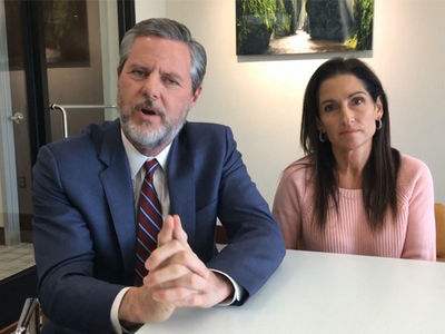 Jerry Falwell Jr. Says Rashad Jennings Got Private Jet for 'DWTS' as Thank You Gift (VIDEO)