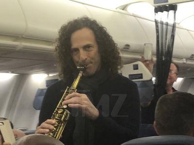 Kenny G Plays Saxophone On A Flight