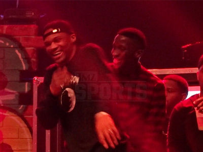 Lil Wayne Gives Russell Westbrook An Assist To Turn Up Onstage (VIDEO)