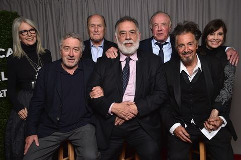 Diane Keaton, Robert DeNiro, Robert Duvall, Francis Ford Coppola, James Caan, Al Pacino and Talia Shire