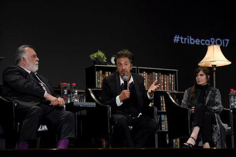 Francis Ford Coppola, Al Pacino and Talia Shire