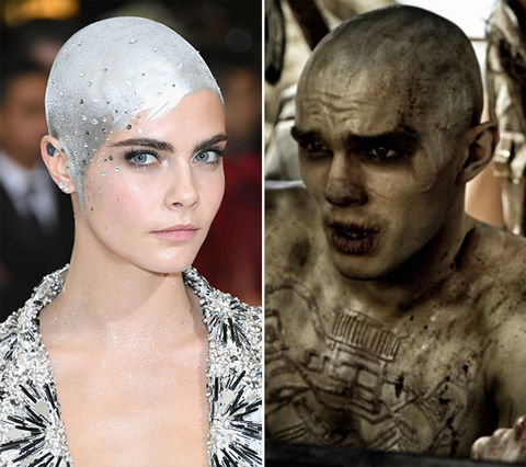 Cara Delevingne and the War Boy on 'Mad Max'