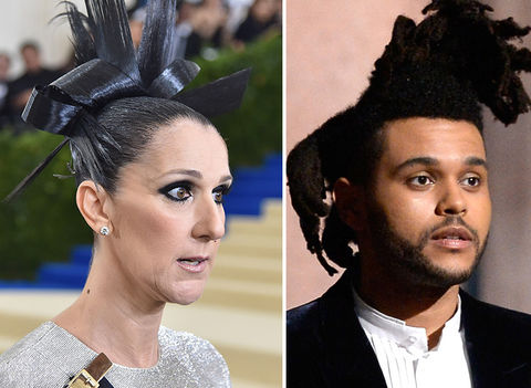 Celine Dion and The Weeknd